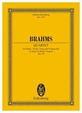 Piano Quartet A major op. 26  Brahms, Johannes  study score Piano, Violin, Viola
