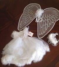 $89 NWT POTTERY BARN KIDS WHITE Swan Fairy Costume 3T WINGS/HEADPIECE/DRESS