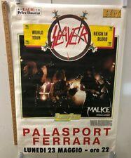 VINTAGE MUSIC POSTER Slayer World Tour Reign In Blood Palasport Ferrara, Malice