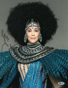 WOW CHER SIGNED AUTHENTIC AUTOGRAPH 11X14 PHOTO BECKETT BAS COA  33