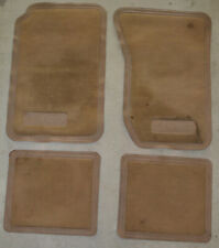 JEEP SJ Wagoneer OEM carpet floor mats AMC marks RARE survivors USED TAN 4Pc set