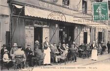 CPA 35 RENNES CAFE DE LA POSTE J.GUEHENNEC QUAI LAMENNAIS A RENNES