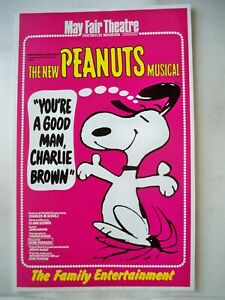 YOU'RE A GOOD MAN CHARLIE BROWN Herald MAY FAIR THEATRE London 1969