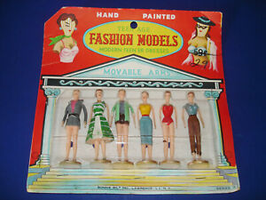 """Teen'er FASHION MODELS 3"""" Plastic Dolls Bild Lilli & Barbie Friends MOC 1950-70s"""