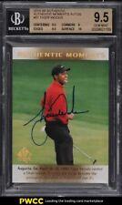 2014 SP Authentic Moments Augusta Tiger Woods AUTO #51 BGS 9.5 GEM MINT