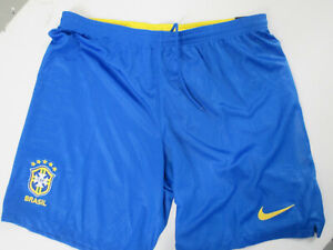 NIKE AUTHENTIC BRAZIL NATIONAL FOOTBALL TEAM SEWN XL SHORTS NWT 2018 GOLD CUP
