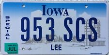 GENUINE Iowa Farm Scene SPECIAL License Licence Number Plate Lee County 953 SCS
