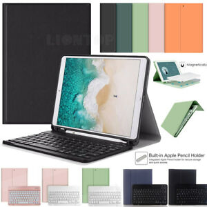 UK For iPad 5th 6th Air1/2 Generation Bluetooth Keyboard with Leather Case Cover