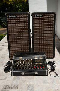 Yamaha EM-150II Vintage 1979 Japan 6-Channel Stereo Mixer Amplifier 2 Speakers