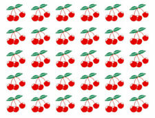 Vintage Image Retro Fruit Cherry Cherries Transfers Waterslide Decals Fru734