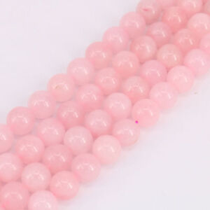 "15"" Strand Rose Quartz Gemstone Stone Round Bead Loose Spacer Beads 4 6 8 10MM"