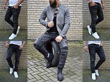 Young Fashion Skinny Herren destroyed Rocker Biker UK STYLE Jeans Röhre Hose