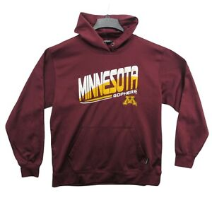 Minnesota Golden Gophers Pullover Hoodie Sweatshirt Embroidered Size L. *Note