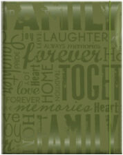 "MBI Embossed Gloss Expressions Photo Album 4 75""X6 5""  -Family - Green"