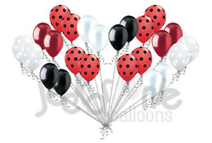 24 pc Lady Bug Inspired Latex Balloons Party Decoration Birthday Baby Shower