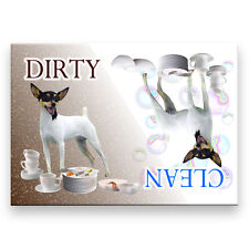 Toy Fox Terrier Clean / Dirty Dishwasher Magnet Dog