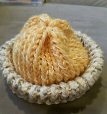 Handmade Beanie Hat Fits 2-3 Year Old Yellow