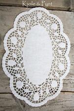 0,20€/St) 5 Papierdeckchen weiß 24x31cm Doilies Papierspitze Rosendekor Deckchen