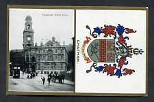 C1910 View of the Town Hall & Chatham Coat of Arms.