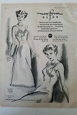 1949 women's NEWFORM Bur-mil slip lingerie vintage fashion ad