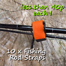 10 velcro nylon carp pike fishing rod strap sea coarse game loop fastener holder