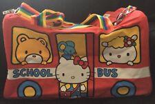 Sanrio Hello Kitty Con 2014 40th Anniversary Red School Bus Duffle Bag Gym New
