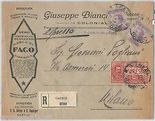 64051 - ITALIA  Regno - STORIA POSTALE: BUSTA PUBBLICITARIA Varese  CARAMELLE