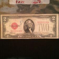 Two dollar bill red seal circa 1928