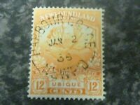 NEWFOUNDLAND POSTAGE STAMP SG138 12C ORANGE VERY FINE USED