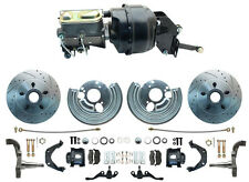 "1966-76 Dodge Dart Front Power 12"" Disc Brake Conversion Kit, Black PC Calipers"