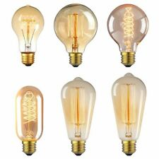 Vintage Retro E26 40W 60W Light Bulbs Edison Filament Incandescent 110V Bulb