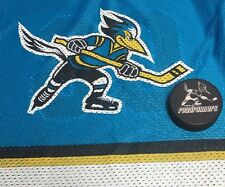 Vintage Made In Usa Kids Phoenix Roadrunners Youth 14-16 Hockey Jersey + Puck