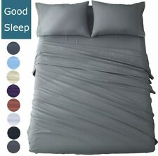 Bed Sheet Set 4 Piece Egyptian Comfort 1800 Count Ultra Soft Deep Pocket