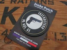 SNAKE PATCH PVC - INSTRUCTEUR PA MAS G1 - pistolet ISTC tir combat Félin NTTC
