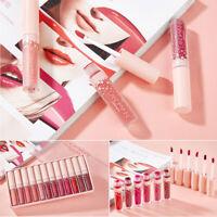 12 pcs/Set Women Matte Mini Lip Gloss Waterproof Cosmetic Makeup Liquid Lipstick