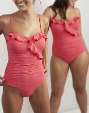 Joules Para Mujer Nerina Volante Traje de Baño en Rojo Sky