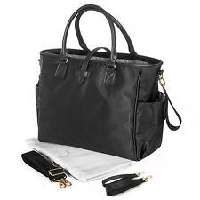 Allis Luxury Changing Bag Baby Nappy Diaper Bag Mommy Handbag - Kelly Black