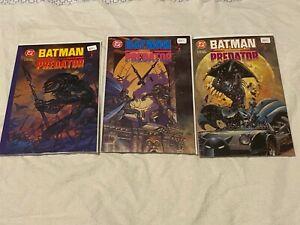 Batman vs. Predator Prestige editions #1-3 Kubert Suydam  DC/Dark Horse   NM-