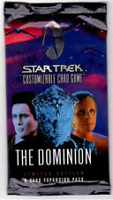 Star Trek Ccg Sealed Packets of The Dominion 1st Edition Series,9 Cards Per Pack