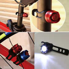Bicycle Cycling Led Front Rear Tail Helmet Safety Flash Light Black Warning Lamp