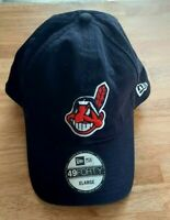 Cleveland Indians Hat New Era 49 Forty Size XL Blue Stitched Chief Wahoo Logo