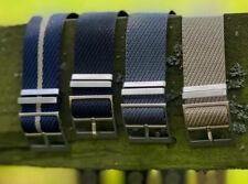 Premium (Tudor Style) Nylon - Single Pass Nato Watch Straps - 20/22mm 4 Colours