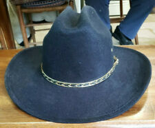 Western Express Cowboy Hat - Wide Brim - Black Felt - Kids Size
