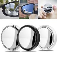 """2Pcs 2"""" Car Blind Spot Rear View Mirror Wide Angle Convex Rearview Round Mirrors"""