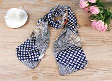 Fashion Women Lady Geometric Flower Silk Scarf Retro Spring Shawl Gift Present