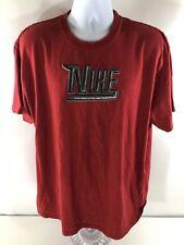Vintage Nike Puffy Felt Logo Spellout Red T-shirt Retro 3D 90s Streetwear XL