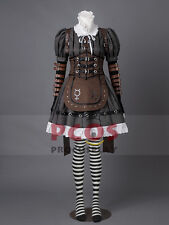 Alice: Madness Returns Alice Steamdress Cosplay Costume & Necklace Gift mp000200