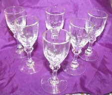 """6 HEISEY CRYSTOLITE 3 5/8"""" Cordial Footed Stemmed Glasses all perfect!"""