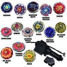 Beyblade Light Pack w/ 4 Random Beyblades Equipped w/ LL2 Grip Launcher