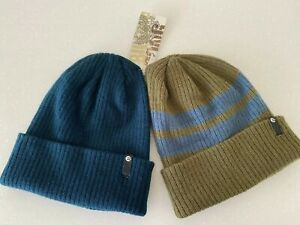 BNWT BILLABONG MENS BAYSIDE DOUBLE PACK BEANIES (SURPLUS / NAVY) ONE SIZE